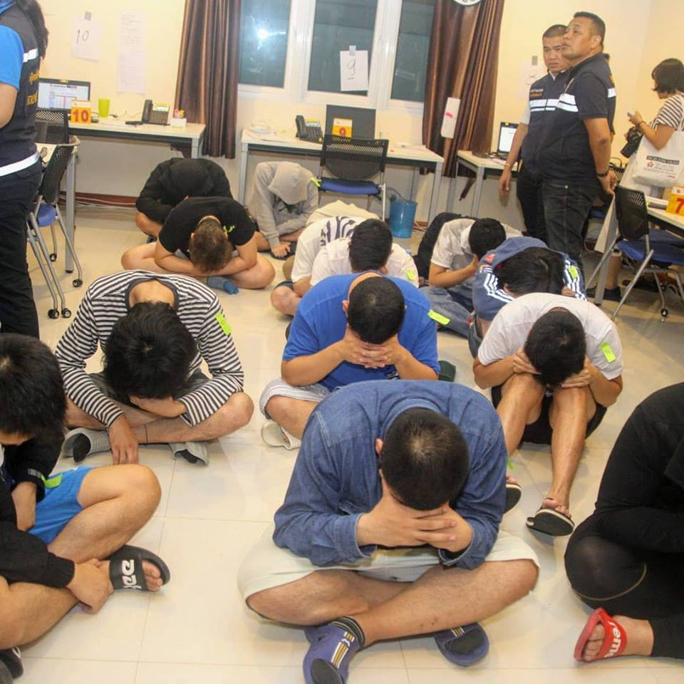 Thai Officials nab 15 Japanese Nationals in Chonburi in